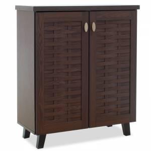 Παπουτσοθήκη-ντουλάπι 12 ζεύγων χρώμα καρυδί 78x40x92εκ