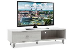 Έπιπλο τηλεόρασης χρώμα γκρι-λευκό 120,5x41x33εκ