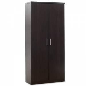Ντουλάπα ρούχων δίφυλλη χρώμα wenge 80x45x180εκ