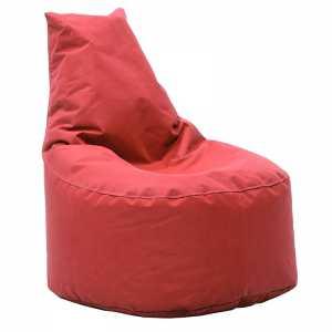 Πουφ πολυθρόνα υφασμάτινο αδιάβροχο κόκκινο
