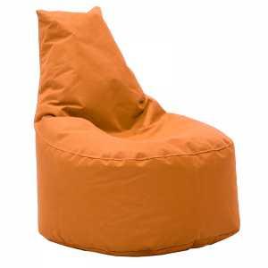 Πουφ πολυθρόνα υφασμάτινο αδιάβροχο πορτοκαλί