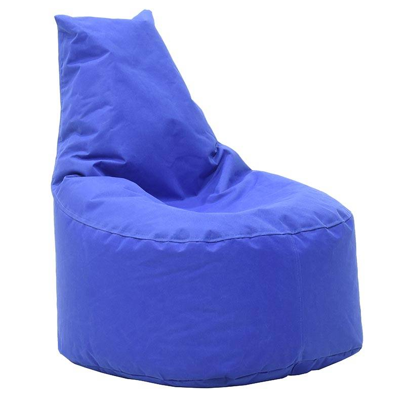 Πουφ πολυθρόνα υφασμάτινο αδιάβροχο μπλε