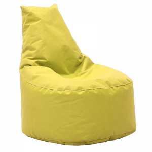 Πουφ πολυθρόνα υφασμάτινο αδιάβροχο κίτρινο