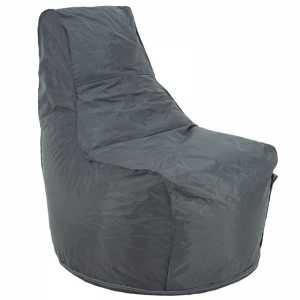 Πουφ πολυθρόνα επαγγελματική με γκρι αποσπώμενο 100% αδιάβροχο κάλυμμα
