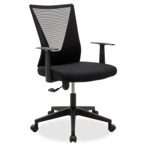 Καρέκλα γραφείου διευθυντή με ύφασμα mesh χρώμα μαύρο