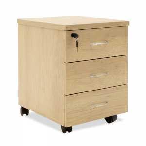 Συρταριέρα γραφείου επαγγελματική τροχήλατη χρώμα sonoma 39x47x52,5εκ