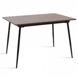 Τραπέζι MDF επεκτεινόμενο χρώμα καρυδί 120-160x80x76εκ