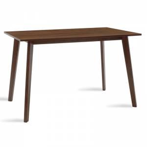 Τραπέζι MDF με καπλαμά  χρώμα καρυδί 120x75x75εκ