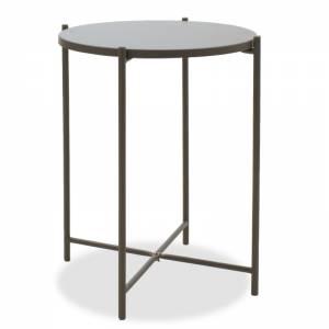 Βοηθητικό τραπέζι σαλονιού γκρι-μαύρο 43.5x43.5x53εκ