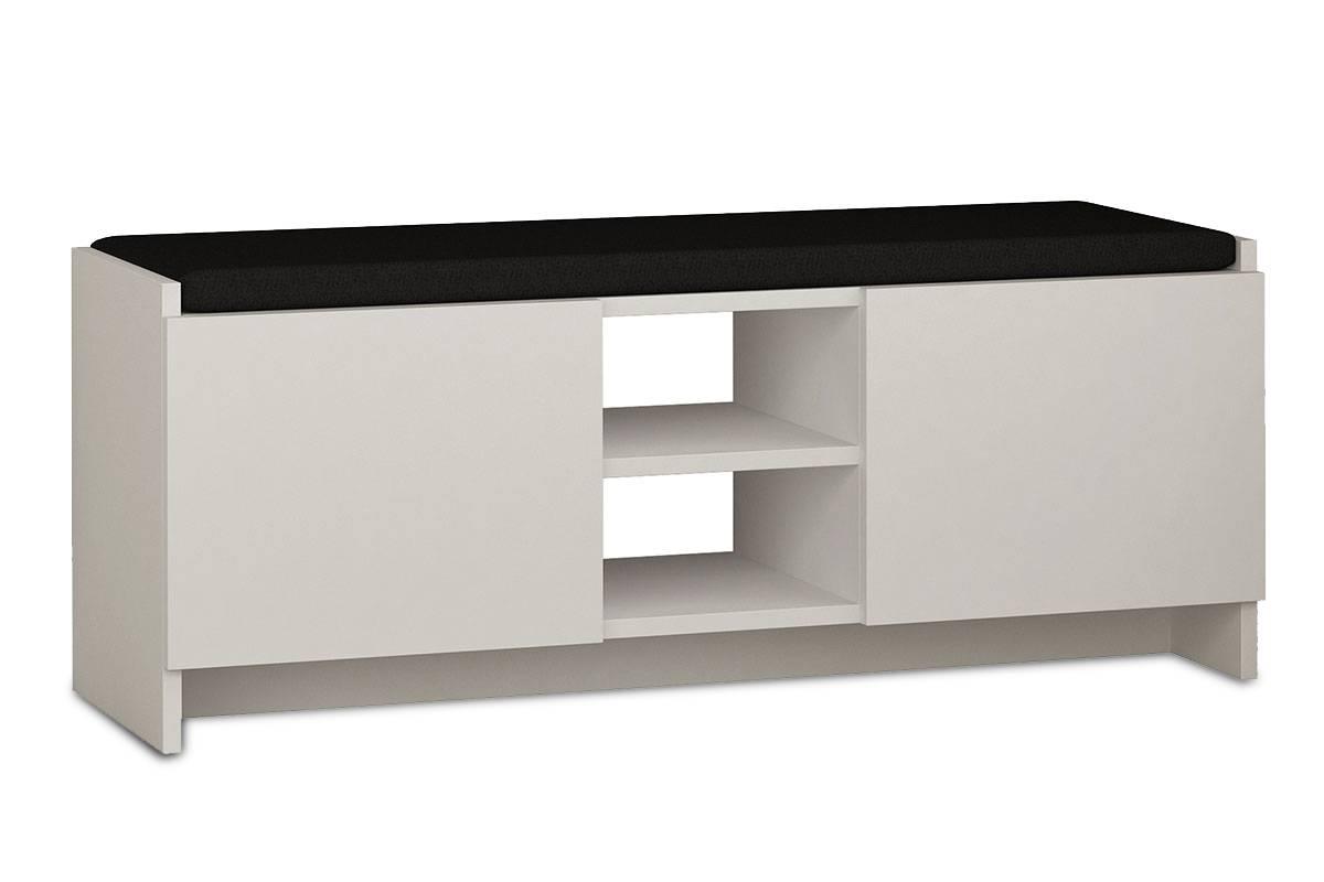 Έπιπλο εισόδου σκαμπώ-παπουτσοθήκη 10 ζεύγων λευκό 110x37x43εκ