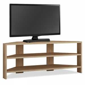 Γωνιακό έπιπλο τηλεόρασης σε φυσικό χρώμα 114x36x45εκ