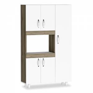 Ντουλάπα κουζίνας χρώμα λευκό-καρυδί  89x37.5x160εκ