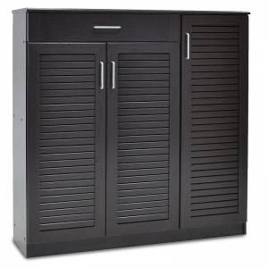 Παπουτσοθήκη-ντουλάπι 30 ζεύγων χρώμα wenge 120x37x123εκ