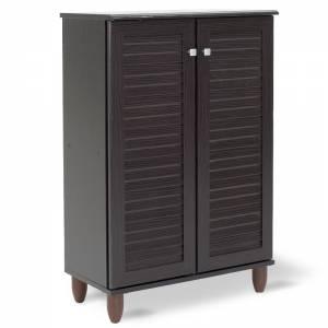 Παπουτσοθήκη-ντουλάπι 10 ζεύγων χρώμα wenge 60x34,5x91,5εκ