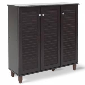 Παπουτσοθήκη-ντουλάπι 16 ζεύγων χρώμα wenge 89,5x34,5x91,5εκ