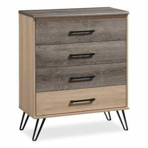 Συρταριέρα με 4 συρτάρια χρώμα viscount - toro 80,5x40x99εκ