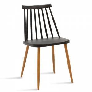 Καρέκλα pp χρώμα μαύρο - φυσικό