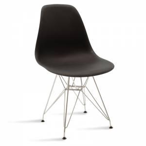 Καρέκλα pp χρώμα μαύρο - inox