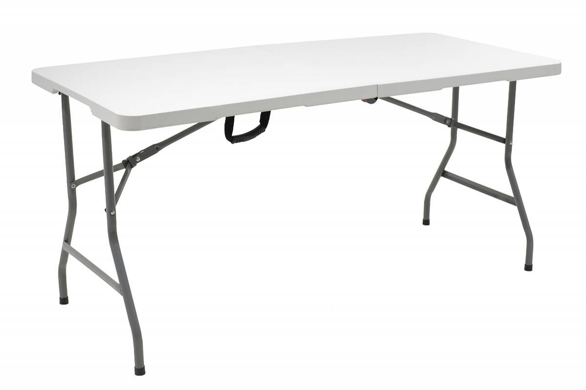 Τραπέζι catering πτυσσόμενο-βαλίτσα επιφάνεια γκρι 152x70x74εκ
