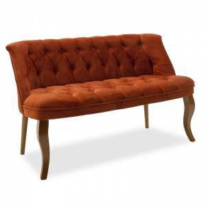 Καναπές 2θέσιος βελούδο κεραμιδί 123x65x73cm