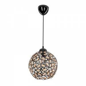 Φωτιστικό οροφής μαύρο με κρύσταλλα Φ23x71εκ