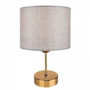 Επιτραπέζιο φωτιστικό γκρι-χρυσό Φ22x32εκ