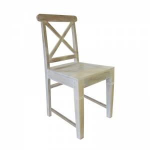 Καρέκλα Dining Ξύλo Mango / Antique Άσπρο