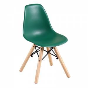 Wood Kid Καρέκλα Ξύλο - PP Πράσινο