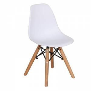 Wood Kid Καρέκλα Ξύλο - PP Άσπρο