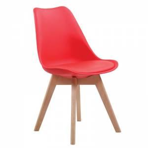 Καρ.PP Κόκκινο (Ξύλινο πόδι) Μοντ/νη ταπετσαρία