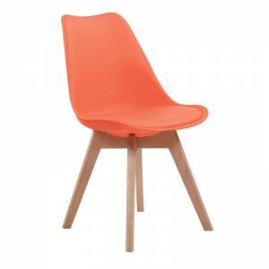 Καρ.PP Πορτοκαλί (Ξύλινο πόδι) Μοντ/νη ταπετσαρία