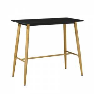 Τραπέζι BAR Μέταλλο Βαφή Φυσικό / Μαύρο MDF