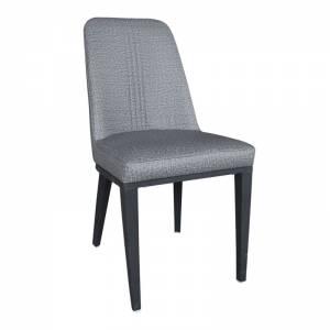 Καρέκλα Μεταλλική Βαφή Μαύρη/Linen Pu Ανθρακί