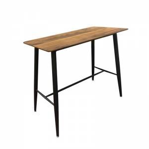 Τραπέζι BAR Μέταλλο Βαφή Μαύρο / Επιφάνεια Απόχρωση Antique Oak