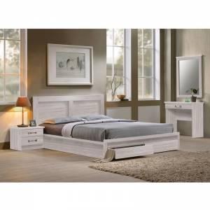 Κρεβάτι-Συρτάρια (για στρώμα 160x200) White Wash