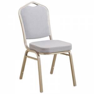 Καρέκλα Μεταλλική Light Gold/Ύφασμα Γκρι