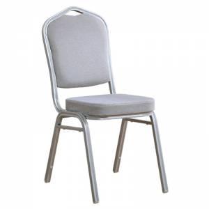 Καρέκλα Μέταλλο Βαφή Silver - Ύφασμα Γκρι