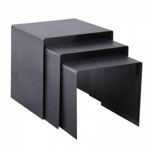 Set-3 Μετ.Τραπεζάκια 45x40x45cm Antique Black