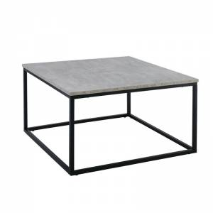 Τραπεζάκι Σαλονιού - Καθιστικού / Μέταλλο Βαφή Μαύρο / Cement