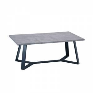 Τραπ.Σαλονιού 110x60cm Cement/Βαφή Μαύρη