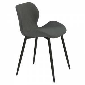 Καρέκλα Μεταλλική Μαύρη/Ύφασμα Σκ.Γκρι