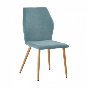 Καρέκλα Μεταλλική Βαφή Φυσικό/Ύφασμα Βεραμάν