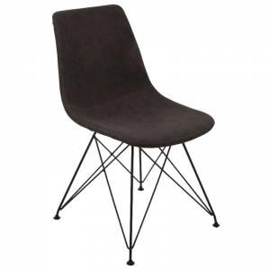 Καρέκλα Μέταλλο Βαφή Μαύρη / PU Vintage Black