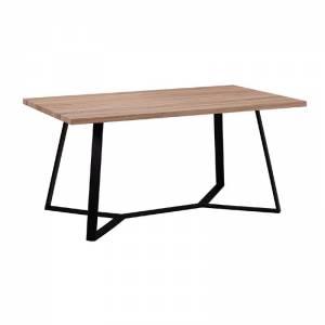 Τραπέζι 160x90cm Sonoma/Βαφή Μαύρη