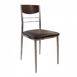Καρέκλα Σκ.Καρυδί/Καφέ Pvc
