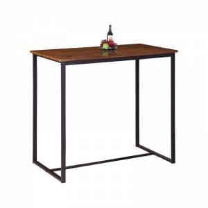 Τραπέζι BAR Μέταλλο Βαφή Σκούρο Καφέ - Καρυδί