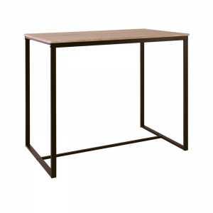 Τραπέζι BAR 100x60cm Μεταλ.Σκ.Καφέ/Sonoma