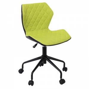 Καρέκλα γραφείου Pu Μαύρο/Ύφασμα Λαχανί