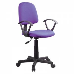 Πολυθρόνα Γραφείου Ύφασμα Μωβ