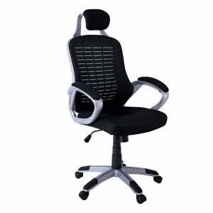 Πολυθρόνα Διευθ.Mesh Μαύρο